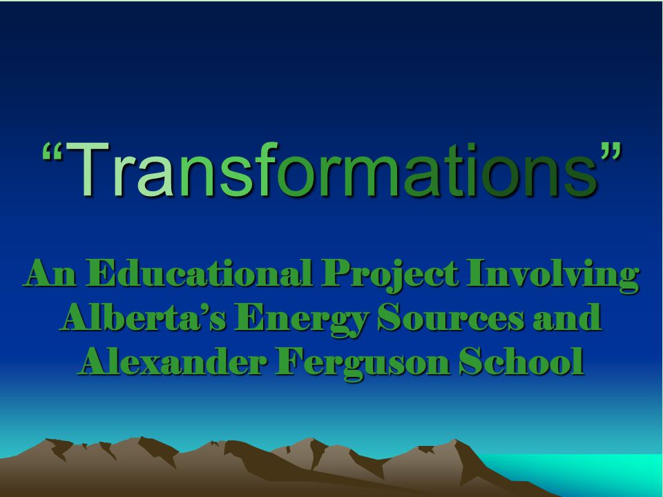 Transformations  Alexander Ferguson School, located at 1704-26 St.
