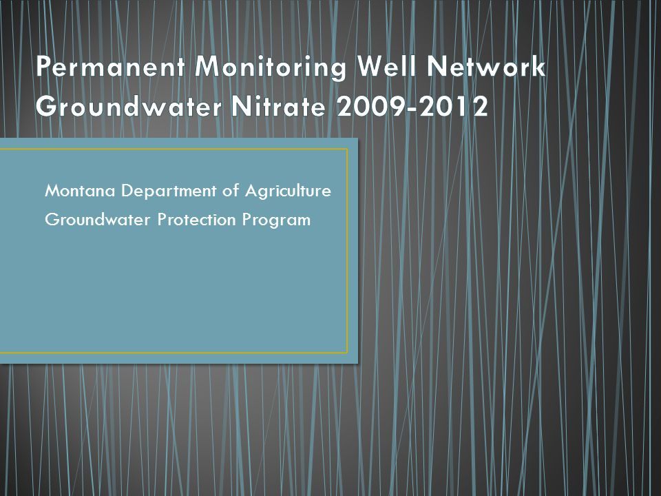Montana Department of Agriculture Groundwater Protection Program
