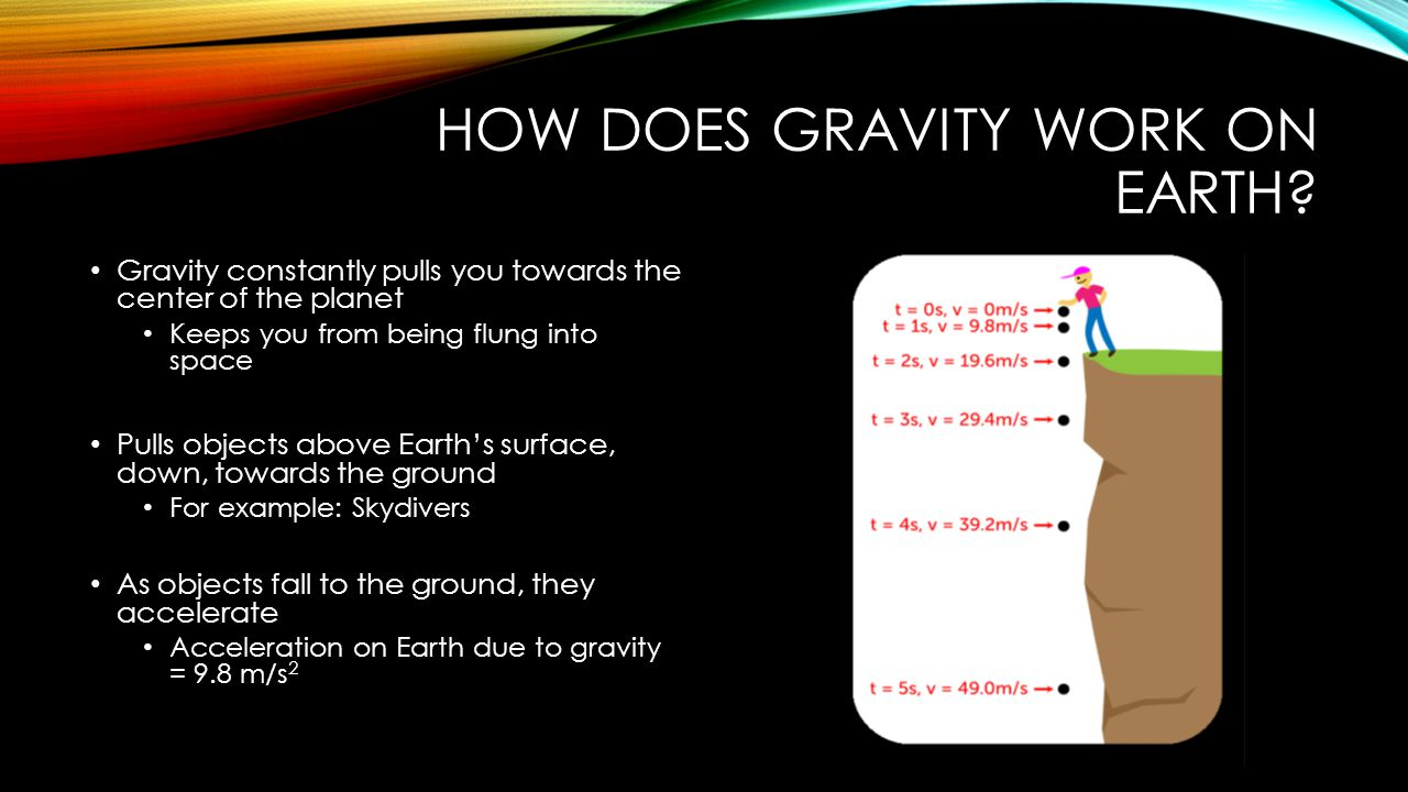 HOW DOES GRAVITY WORK ON EARTH.