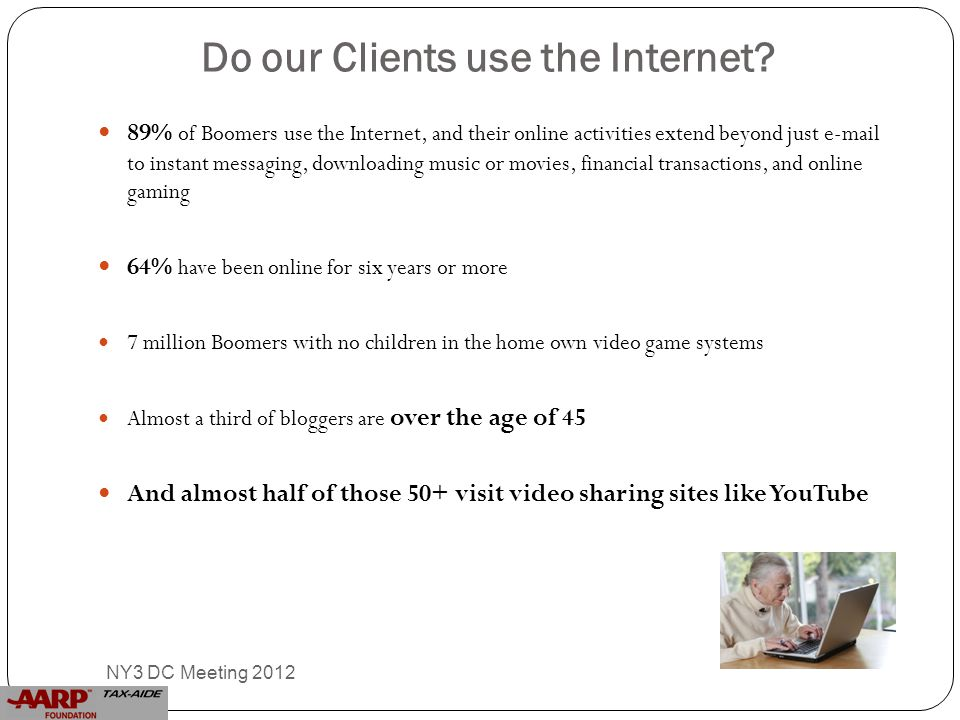 Do our Clients use the Internet.