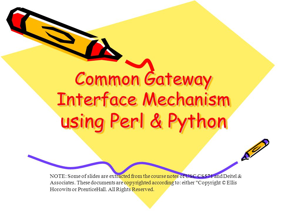 Outline Basic Operation –Invoking a CGI Script –CGI Environment variables –CGI Script Output Using Perl/Python for Server-side scripting Program to print environment variables Program that checks the client's browser Program that restricts access via IP address