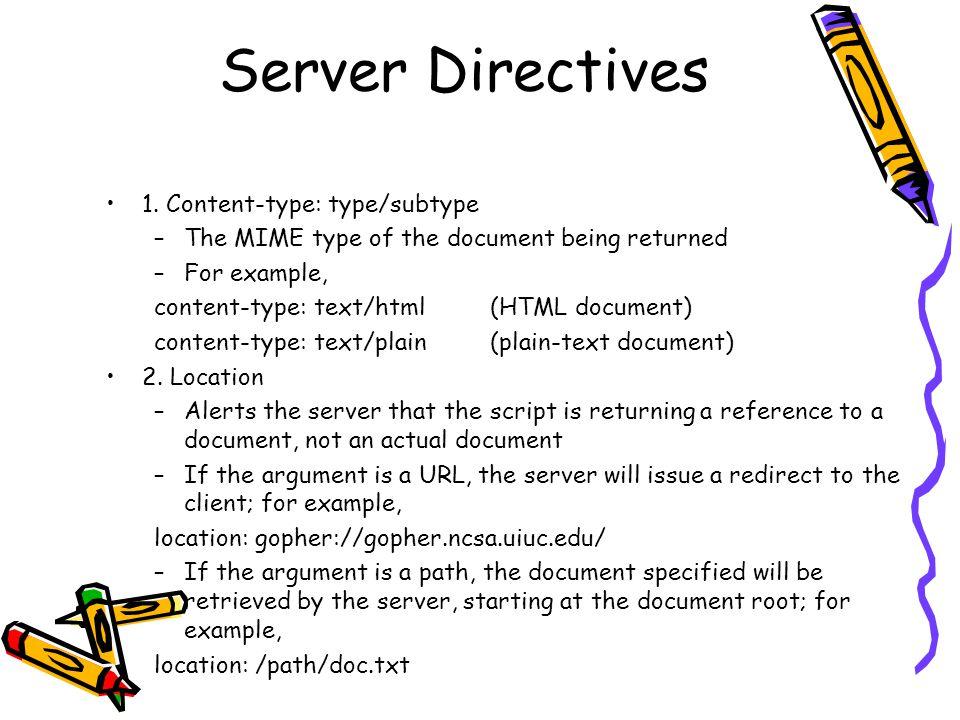 Server Directives 1.