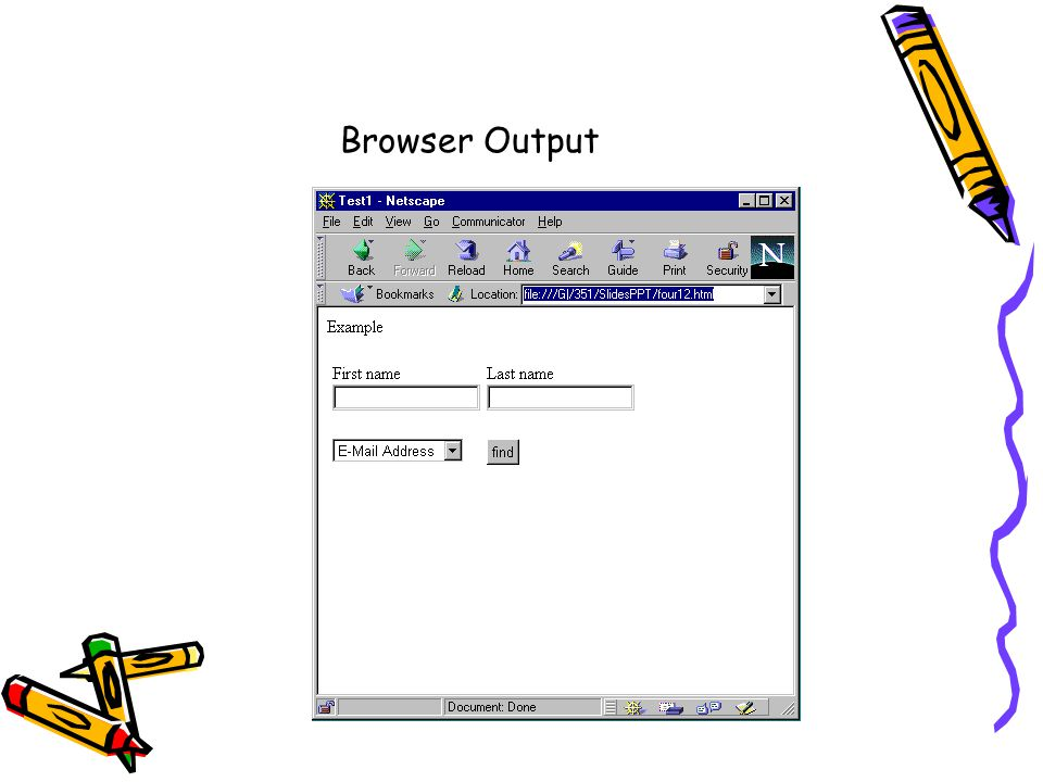 Browser Output
