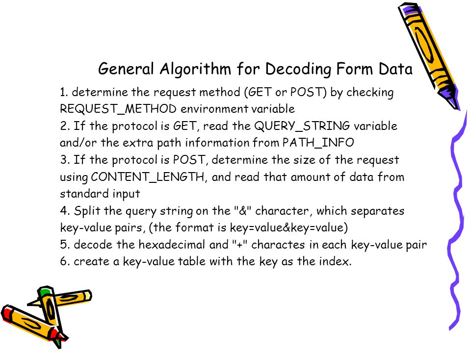 General Algorithm for Decoding Form Data 1.