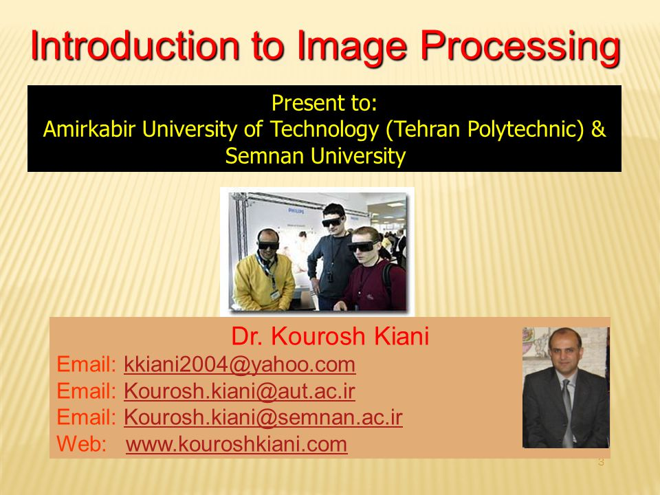 3 Introduction to Image Processing Dr.