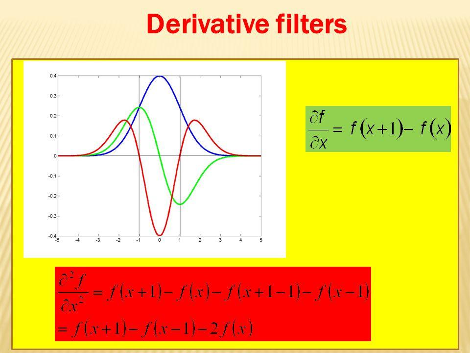 Derivative filters