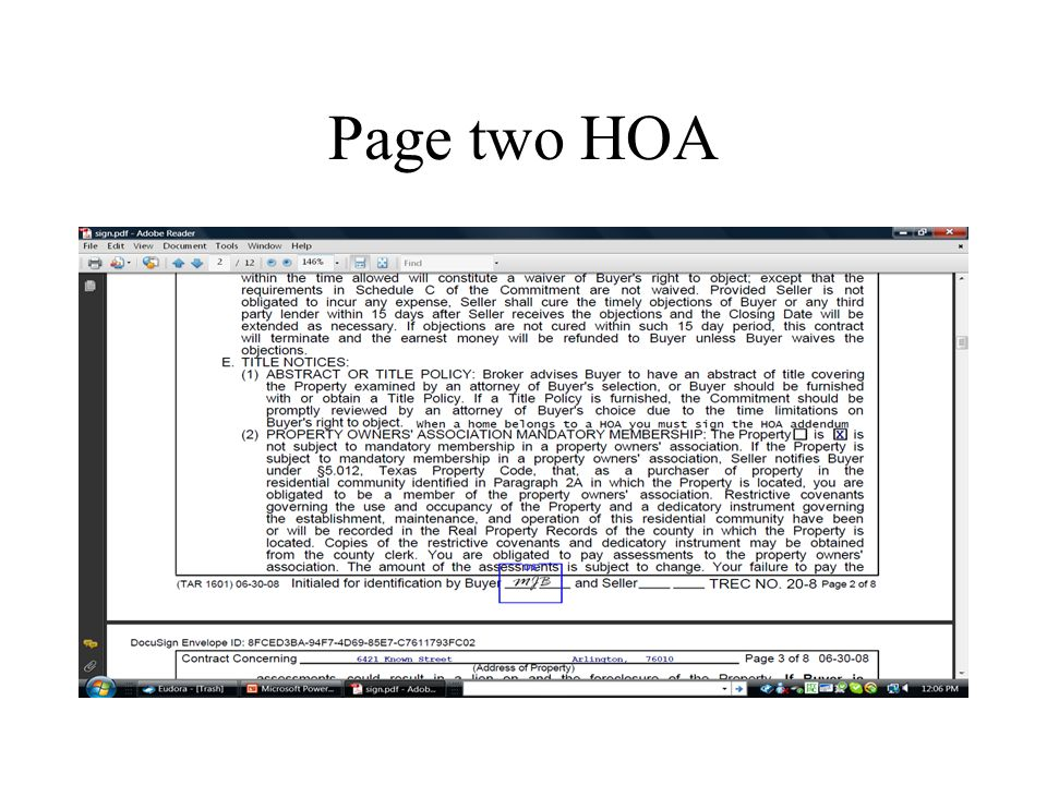Page two HOA