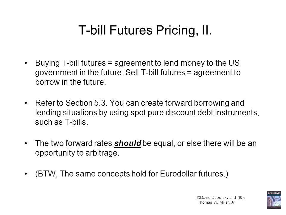 ©David Dubofsky and 10-7 Thomas W.Miller, Jr. Eurodollar Futures, I.