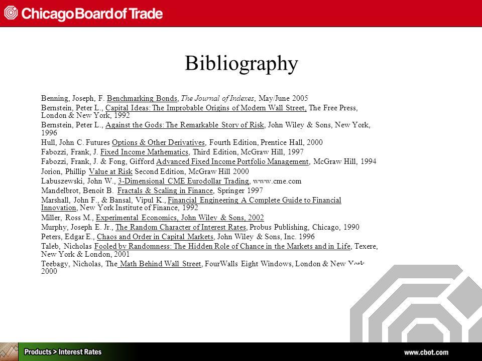 Bibliography Benning, Joseph, F.