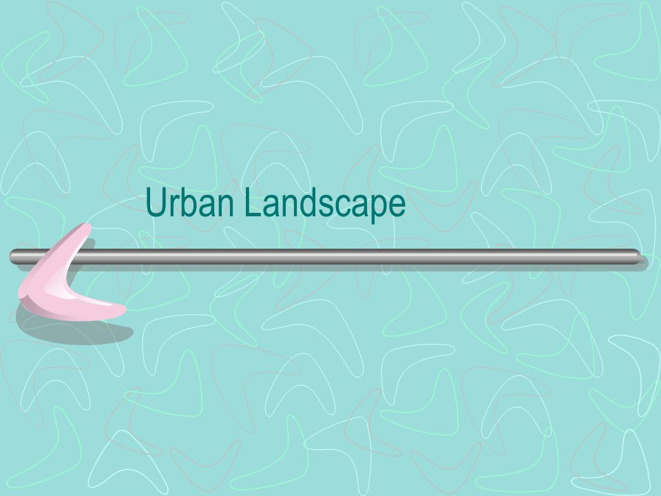 Urban Land Use CBD Commercial landuses Zone in transition Residential Manufacturing