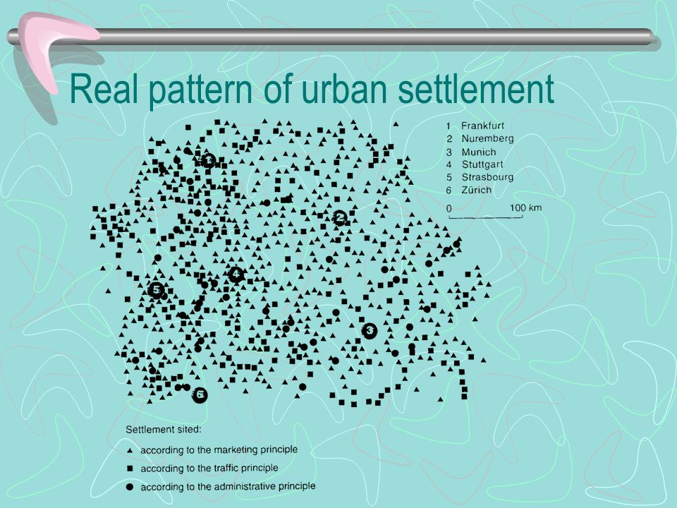 Real pattern of urban settlement