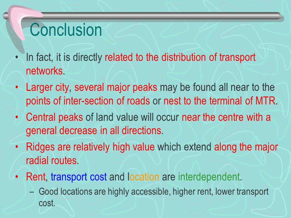 Conclusion In fact, it is directly related to the distribution of transport networks. Larger city, several major peaks may be found all near to the po