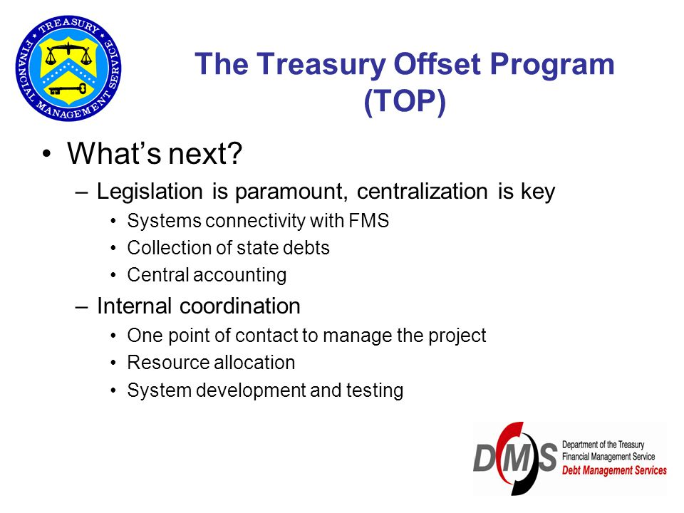 The Treasury Offset Program (TOP) What's next.