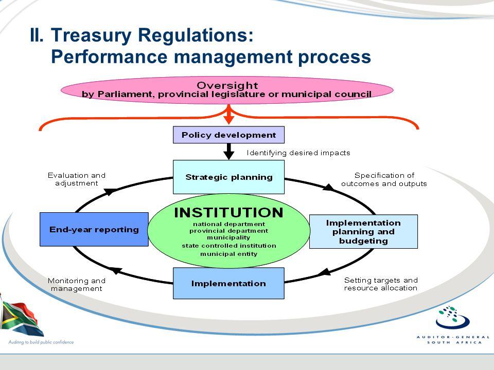 II. Treasury Regulations: Performance management process
