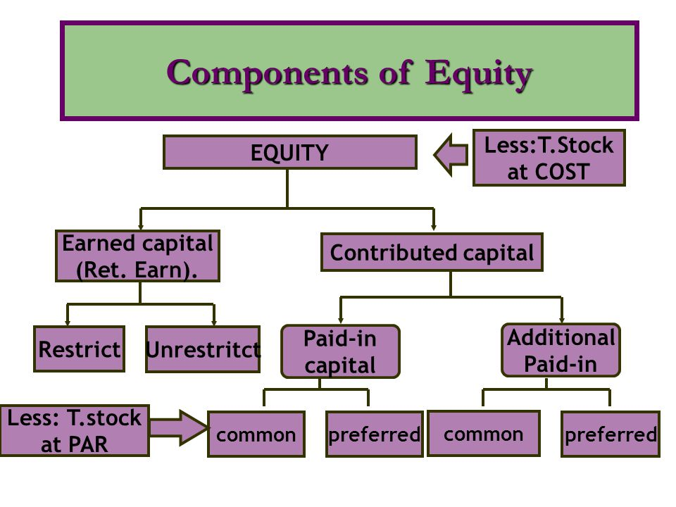 Accounts must be maintained for: Par value stock preferred stock or common stock paid-in capital in excess of par discount on stock (if present) No par stock preferred stock or common stock paid-in capital in excess of par Accounting for Share Issues
