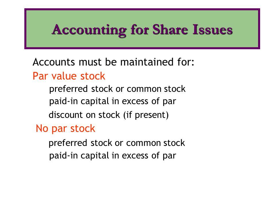 Par value has no economic significance.