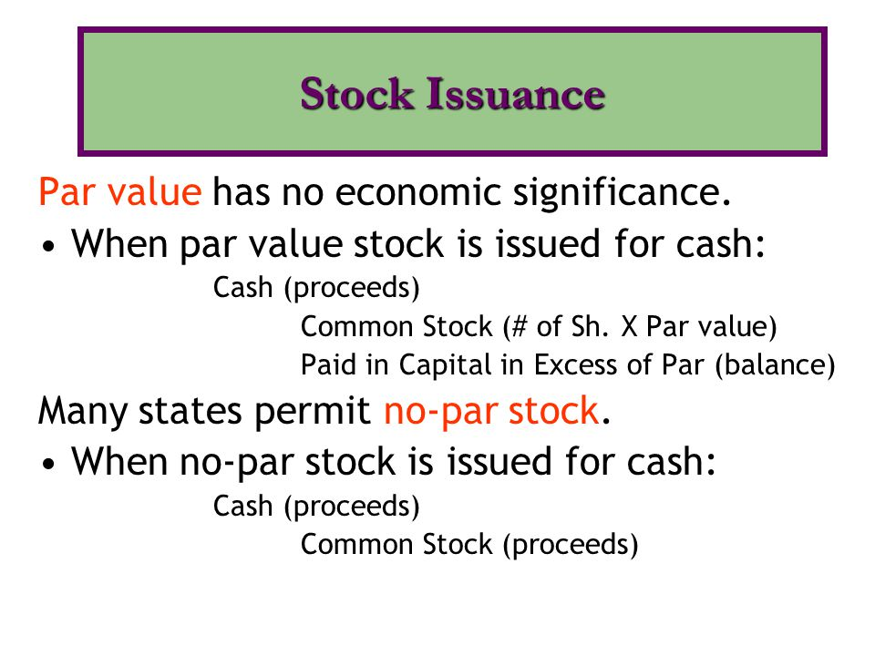 Both COMMON and PREFERRED stocks are issued for cash in a single transaction.