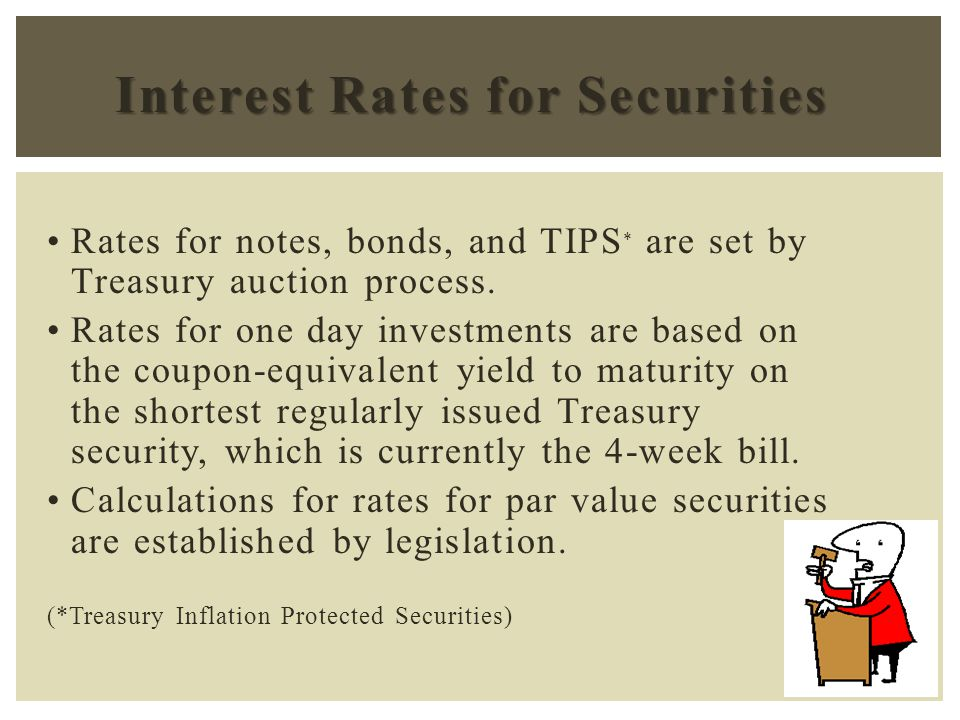 Provide Investment Funds maximum safety A wide range of maturities Liquidity Prevent Investment Funds from disrupting the public market for Government