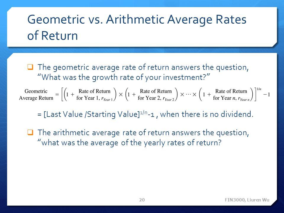 Geometric vs.