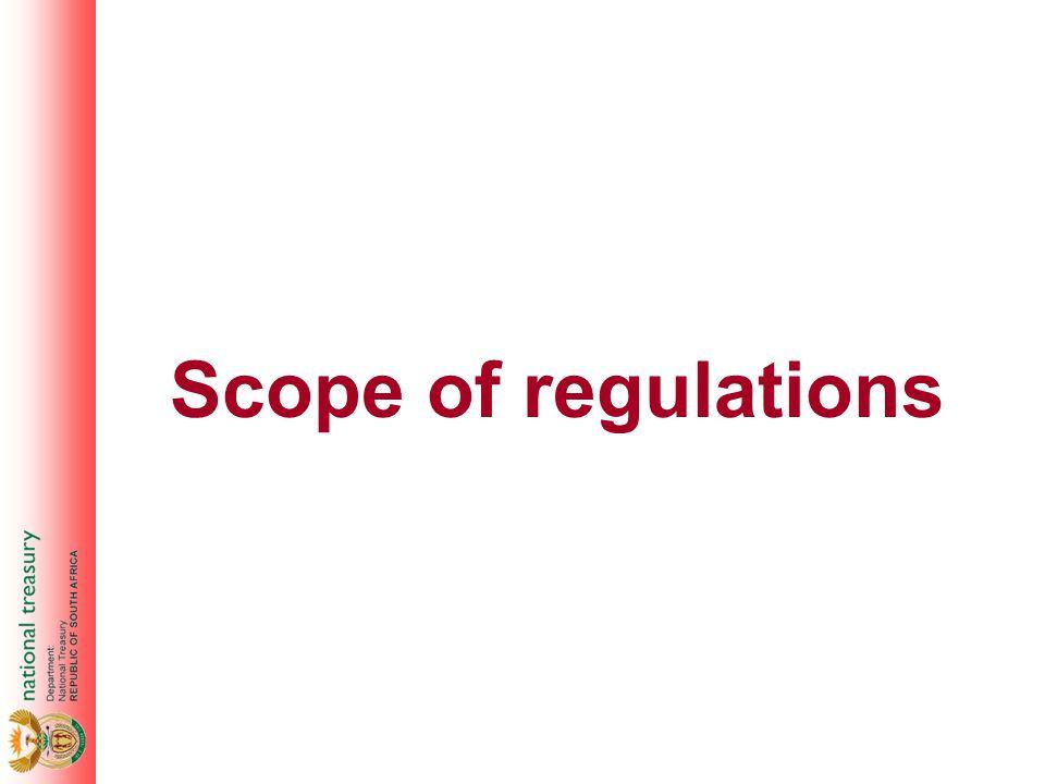 Scope of regulations
