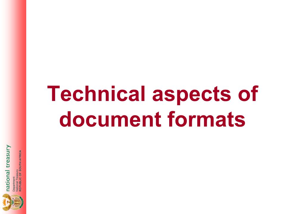 Technical aspects of document formats
