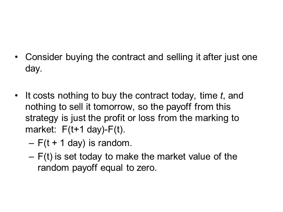 Consider buying the contract and selling it after just one day.