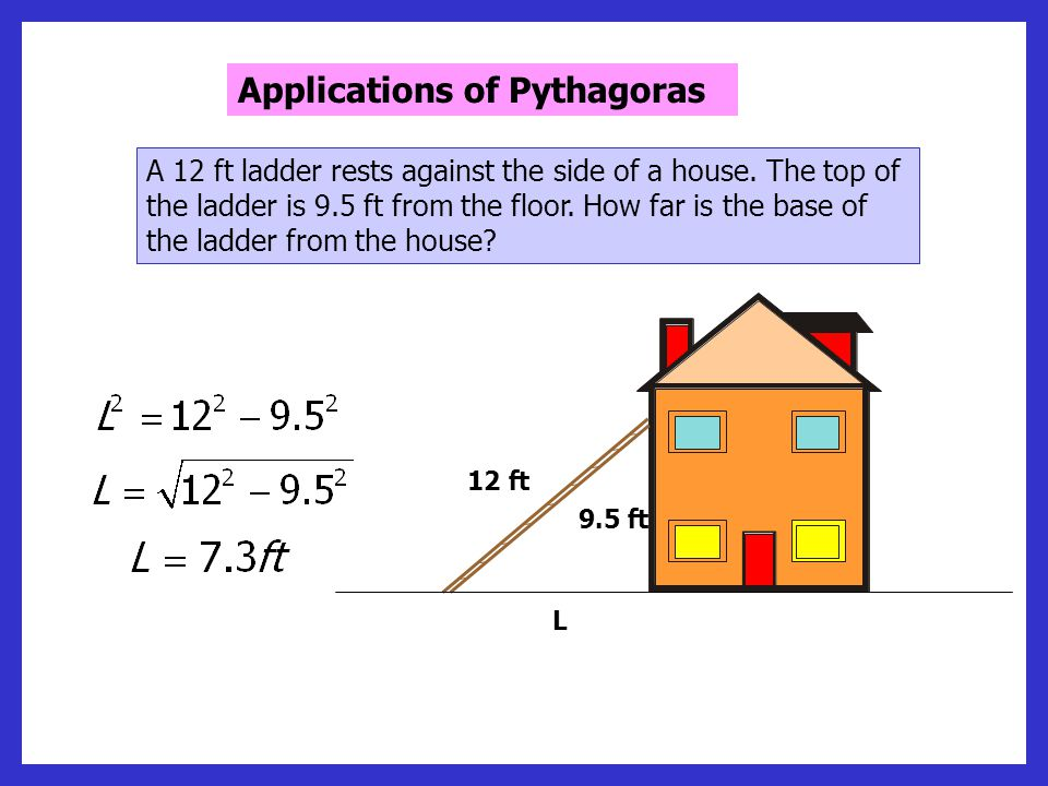 Applications of Pythagoras A boat sails due East from a Harbour (H), to a marker buoy (B), 15 miles away.