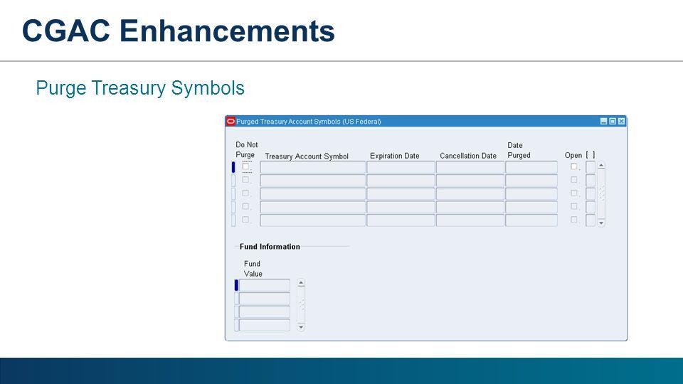 CGAC Enhancements Purge Treasury Symbols