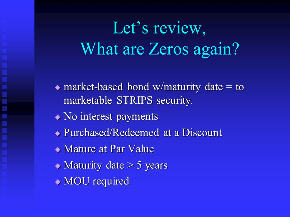 Let's review, What are Zeros again.