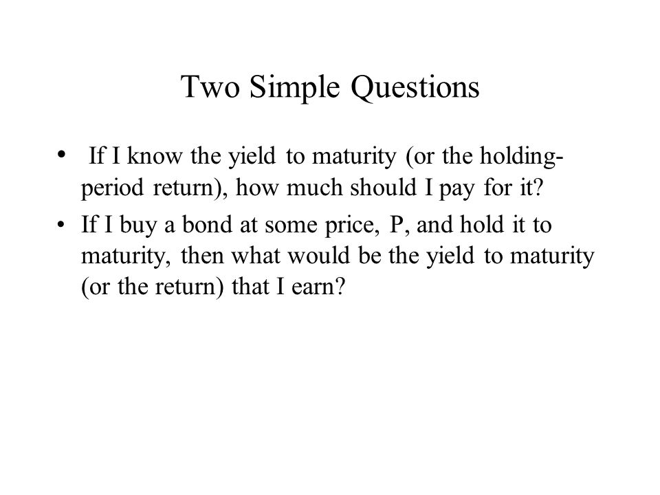 Computing the Price from YTM Let us consider our earlier question of how to compute the price of a Treasury, knowing the yield to maturity.