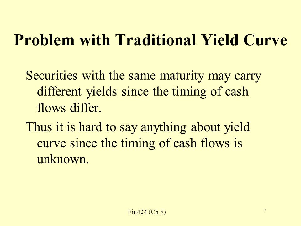 Fin424 (Ch 5) 8 Solution Convert yield curve to theoretical spot rate curve.