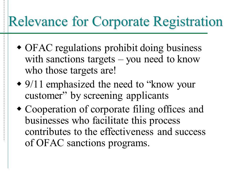 Erin Ghelber Compliance Programs Division Tel:202-622-2490 or 1-800-540-6322 Fax:202-622-2426 Web:www.treas.gov/ofac
