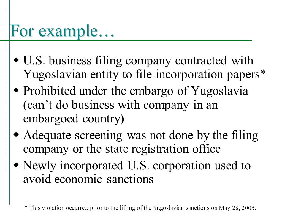 Legal Authority for U.S. Sanctions