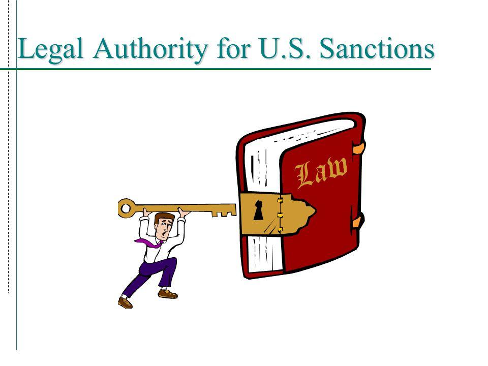 Legal Authority: TWEA  Trading with the Enemy Act ( TWEA ) (50 U.S.C.