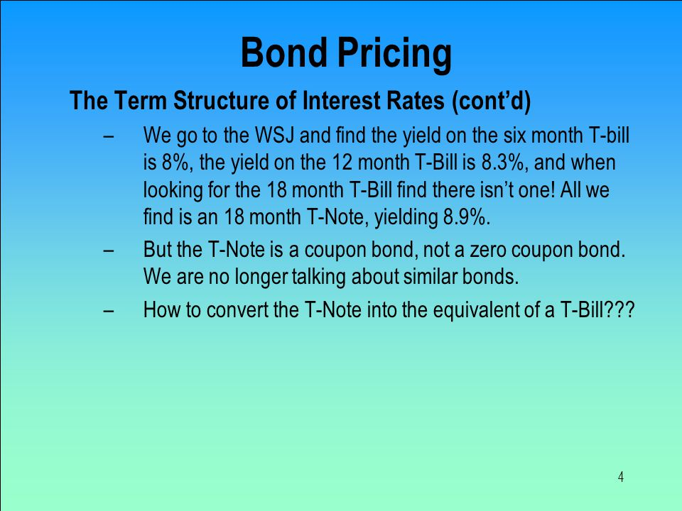 15 Duration & Convexity Calcs Volatility = Δ price/price = [duration / (1 + yield)] * Δi = Corrected ΔP/P = -modified duration Δy + ½ Convexity Δy 2