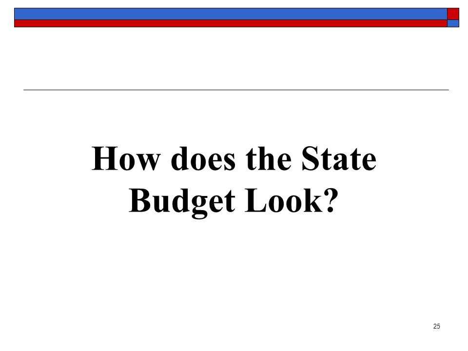 25 How does the State Budget Look