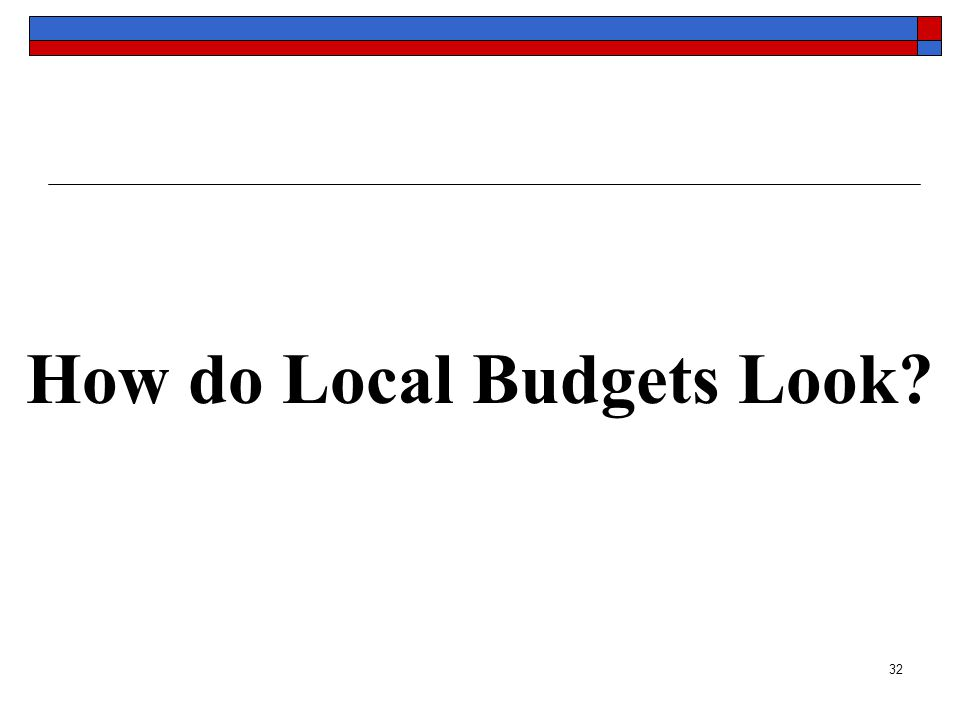 32 How do Local Budgets Look