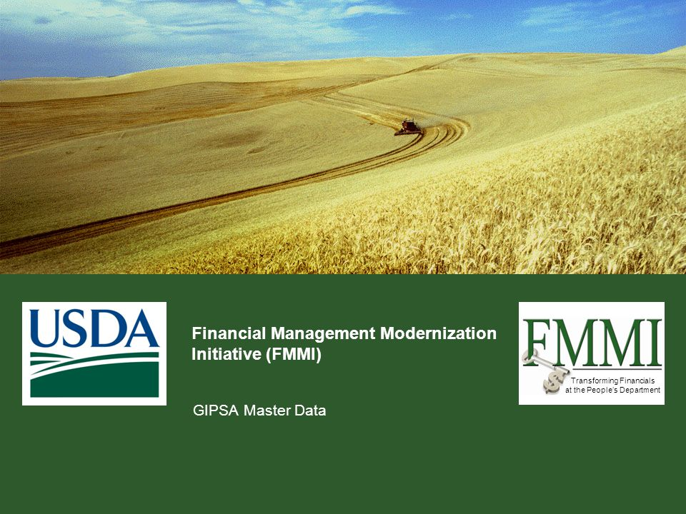 Transforming Financials at the People's Department What is Master Data.