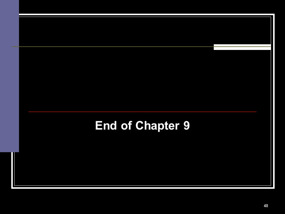 48 End of Chapter 9