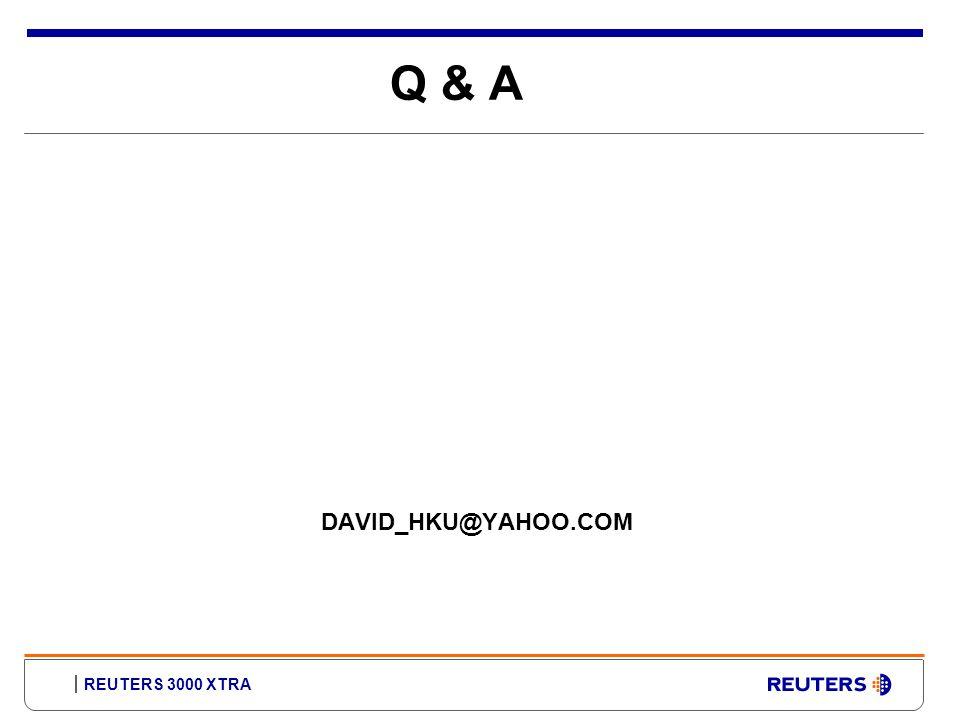 Q & A DAVID_HKU@YAHOO.COM