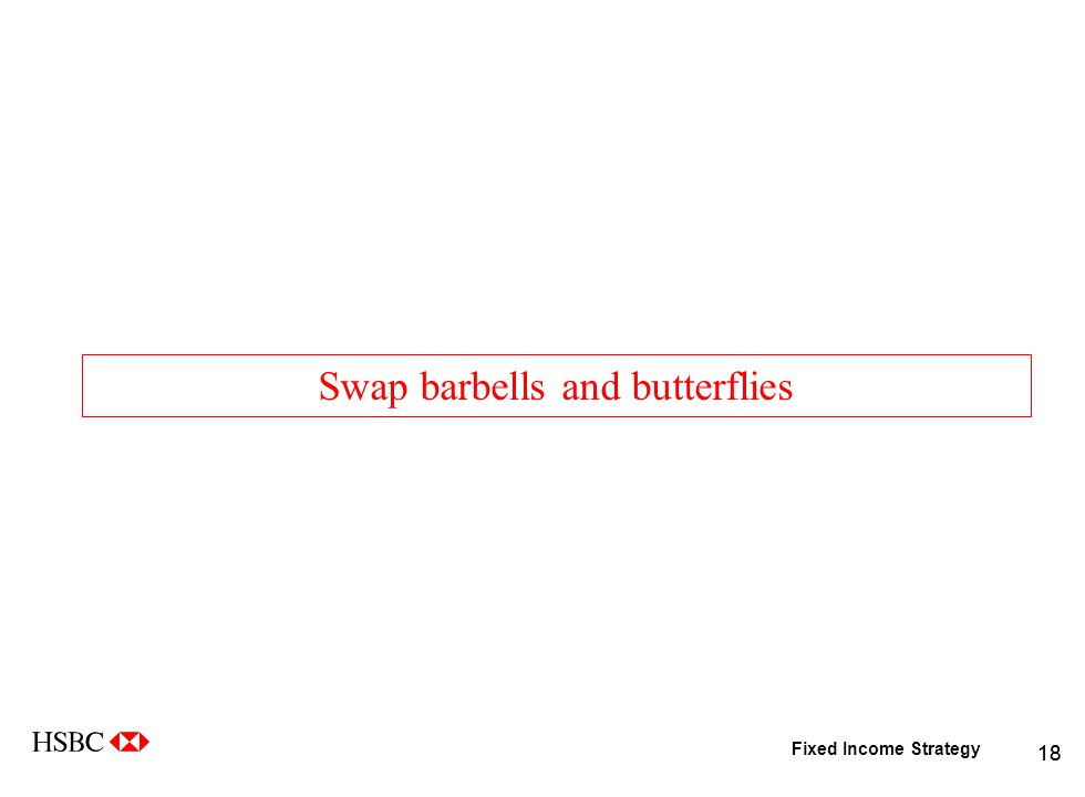Fixed Income Strategy 18 Swap barbells and butterflies