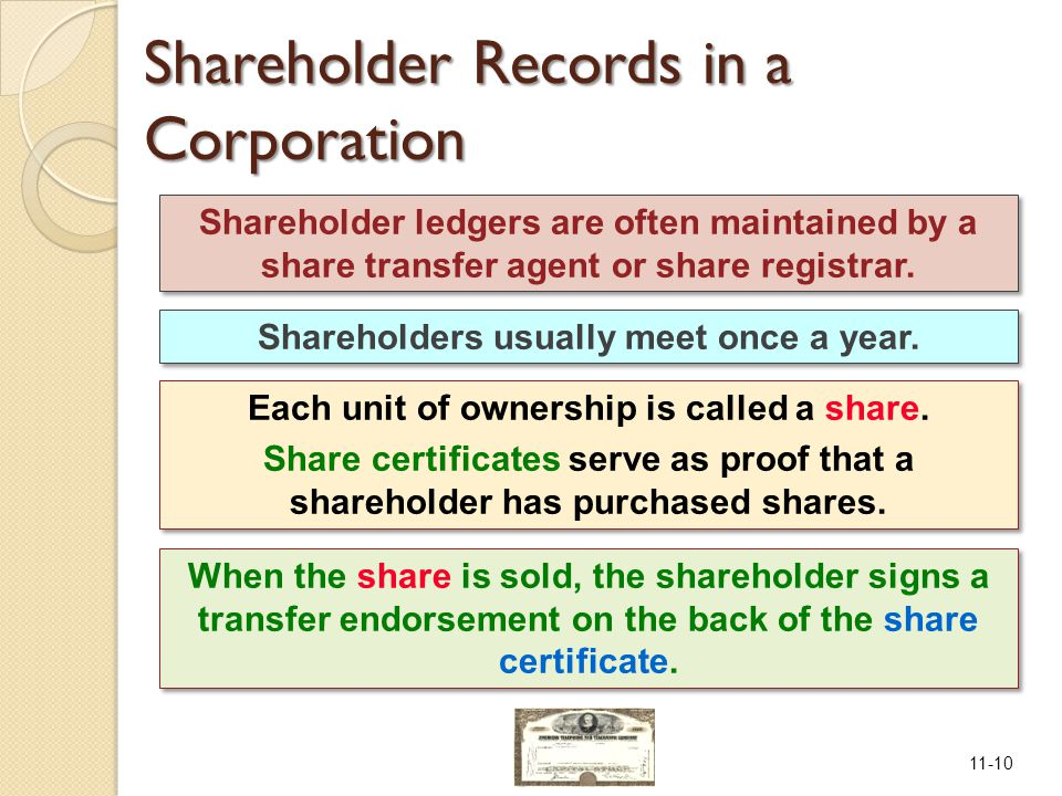 11-10 Shareholders usually meet once a year.