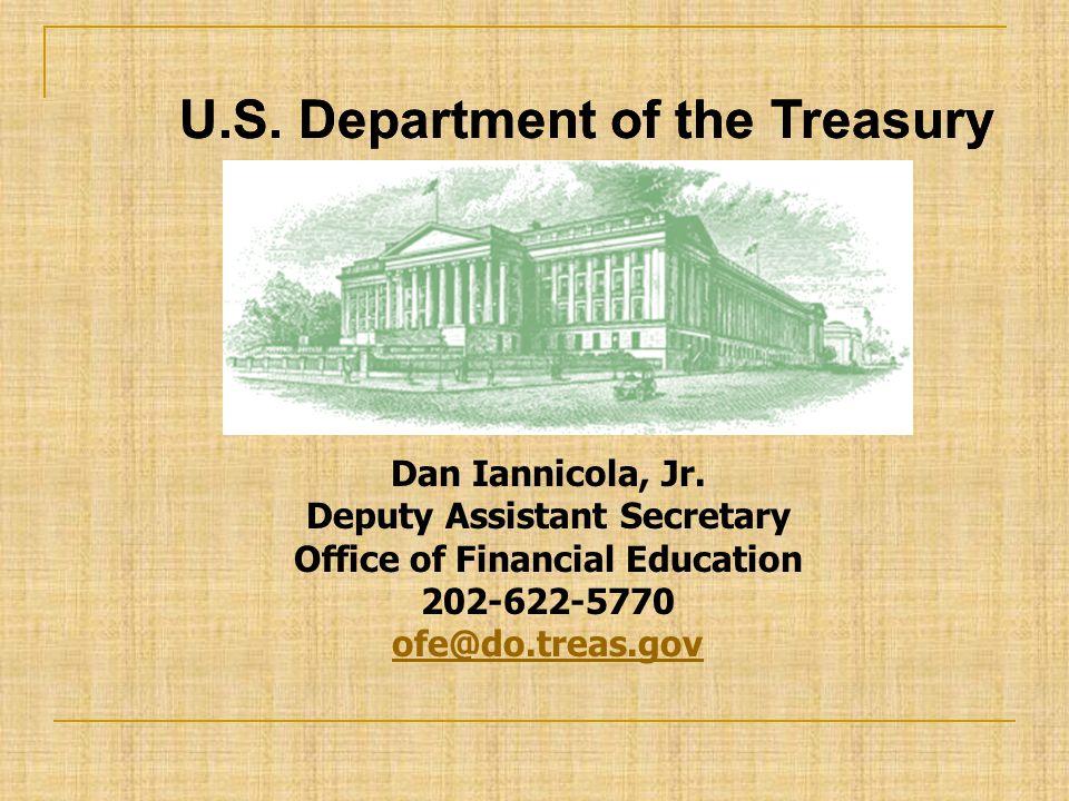 U.S. Department of the Treasury Dan Iannicola, Jr.
