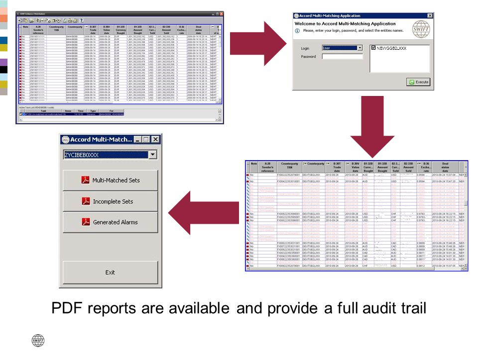 NEWGGB2LXXX PDF reports are available and provide a full audit trail