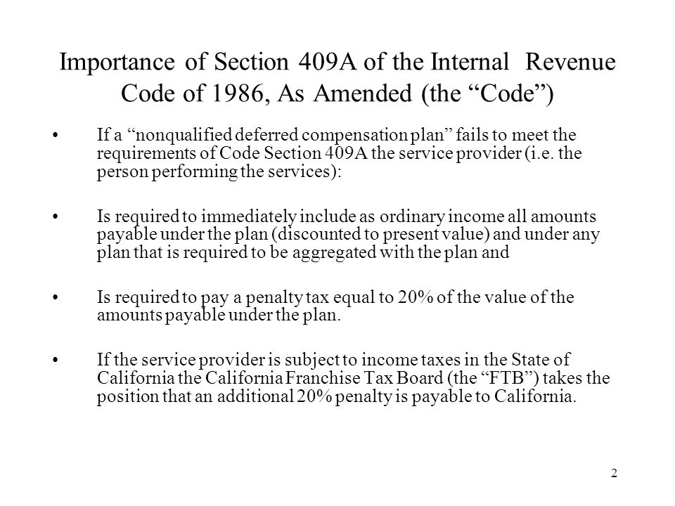 3 What Is a Nonqualified Deferred Compensation Plan for Purposes of Code Section 409A.