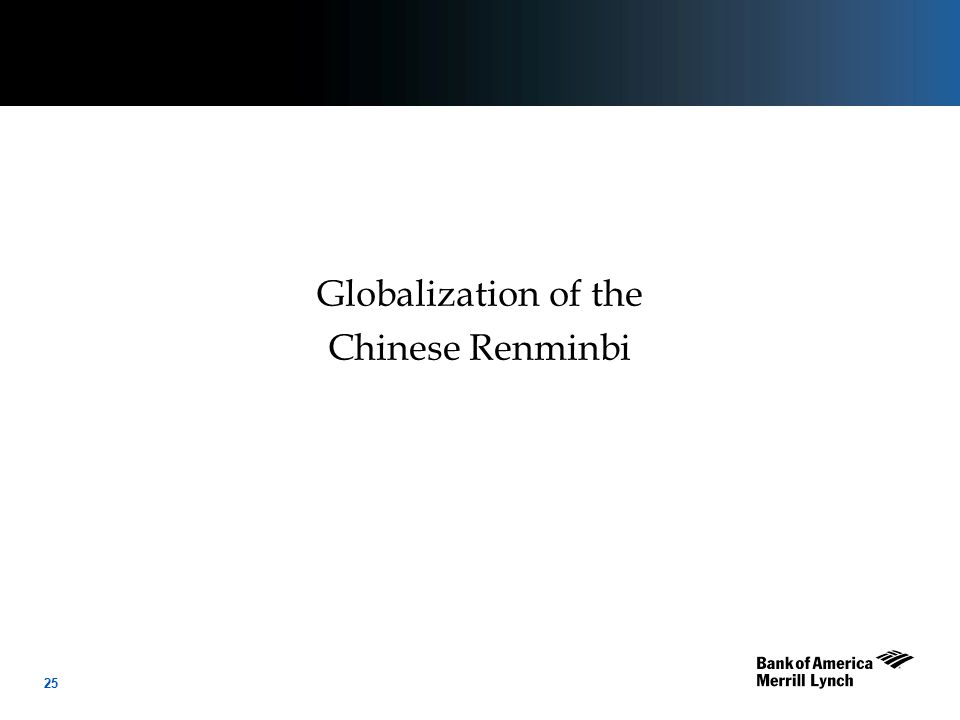 25 Globalization of the Chinese Renminbi