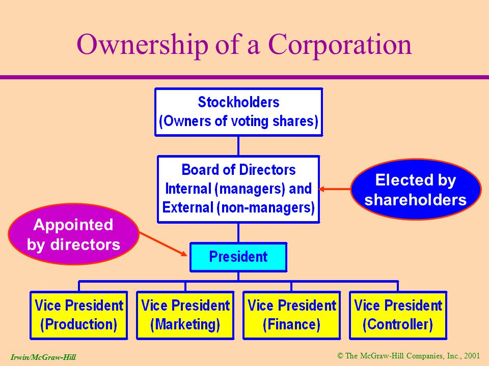 © The McGraw-Hill Companies, Inc., 2001 Irwin/McGraw-Hill Stock Splits Distributions of 25% or more of stock to stockholders.
