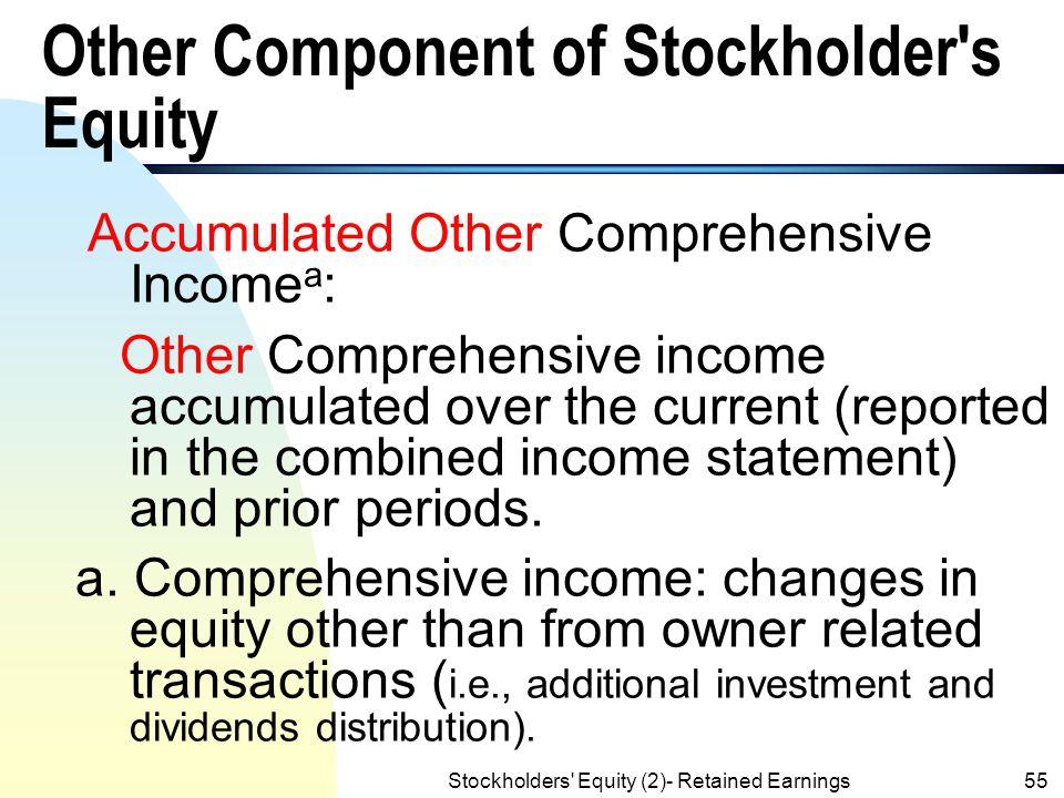 Stockholders' Equity (2)- Retained Earnings54 Appropiraion of Retained Earnings Example Retained Earnings 2,000 Retained Earnings: Appropriated for Tr