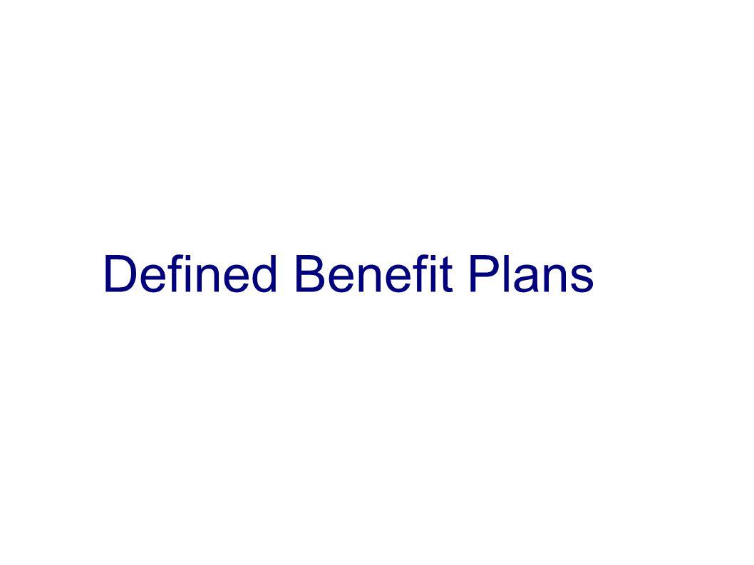Defined Benefit Plans