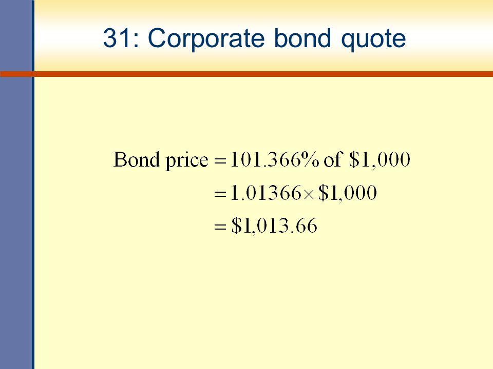 31: Corporate bond quote